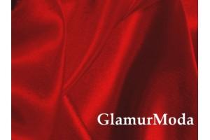 Ткань креп-сатин красного цвета