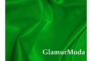 Креп-сатин травяной зеленый