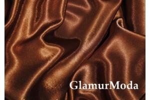 Креп-сатин шоколадного цвета
