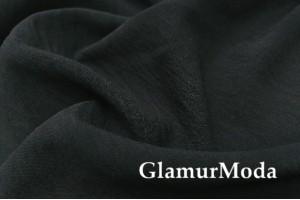 Креп жатый черного цвета