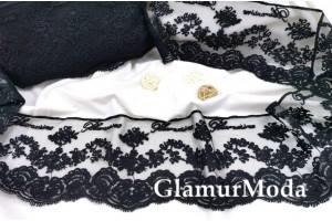 Кружево Blumarine (Блюмарин) чёрного цвета
