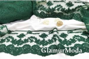 Кружево Blumarine (Блюмарин) изумрудного цвета