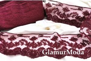 Кружево Blumarine (Блюмарин) бордового цвета