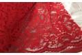 Кружевное полотно красного цвета рисунок с цветами
