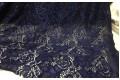 Кружевное полотно темно-синего цвета цветочный рисунок