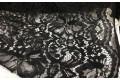 Кружевное полотно черного цвета рисунок с цветами