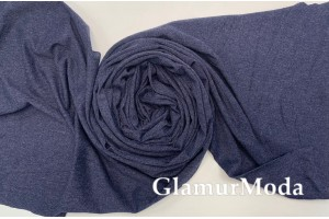 Кулирка (карде) темно-синего цвета меланж