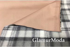 Курточная ткань на флисе бежевого  цвета