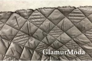 Курточная ткань на синтепоне серый цвет
