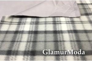 Курточная ткань на флисе серого цвета