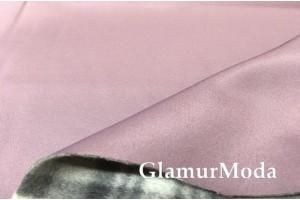 Курточная ткань на флисе лилового цвета