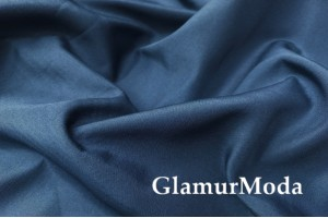 Курточная ткань на флисе темно-синего цвета