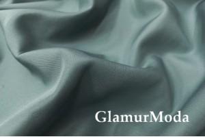 Курточная ткань на флисе зеленого цвета