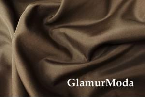 Курточная ткань на флисе коричневого цвета