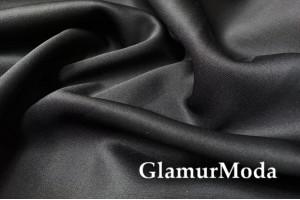 Курточная ткань Неопрен на флисе черного цвета