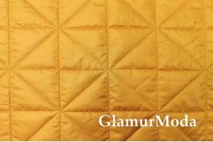 Курточная ткань на синтепоне медовый цвет