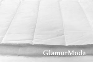 Ткань курточная стёжка на синтепоне полосы, белый цвет