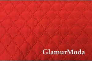 Курточная ткань на синтепоне красный цвет