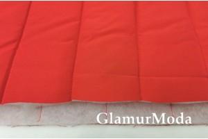 Ткань курточная стёжка на синтепоне полосы, красный цвет