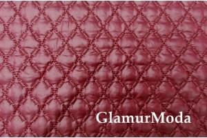 Курточная ткань на синтепоне бордовый цвет