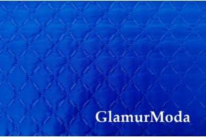 Курточная ткань на синтепоне синий цвет