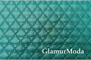 Курточная ткань на синтепоне бриллиантово-зеленый цвет