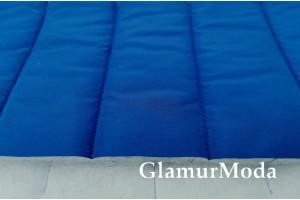 Ткань курточная стёжка на синтепоне полосы, синий цвет