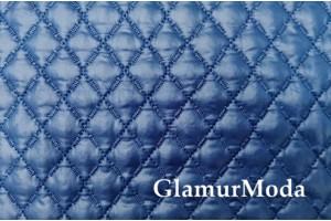 Курточная ткань на синтепоне тёмно-синий цвет