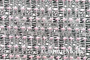 Курточная ткань на синтепоне розовый фламинго на белом фоне