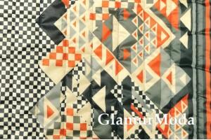 Курточная ткань на синтепоне абстракция из треугольников