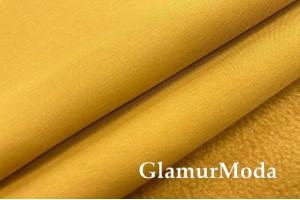 Курточная ткань Софтшелл с мембраной, горчичного цвета, арт. 59812
