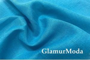 Лен декоративный 02С34, бирюзово-голубой цвет