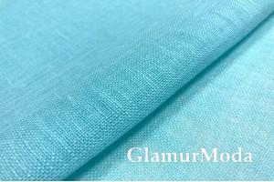 Лен декоративный 02С34, небесно-голубой цвет