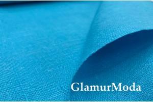 Лен декоративный бирюзово-голубой