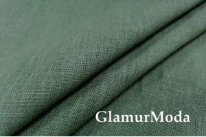 Лен костюмный 09C52, травяной цвет