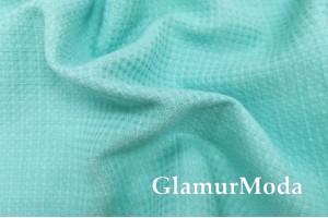 Лен полотенечный бирюзового цвета (17С385)
