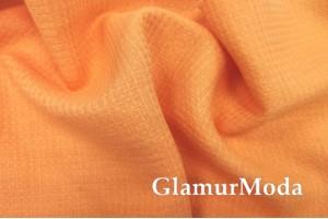Лен полотенечный оранжевого цвета (17С385)