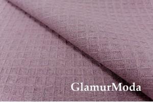 Лен полотенечный серо-розового цвета (17С99)