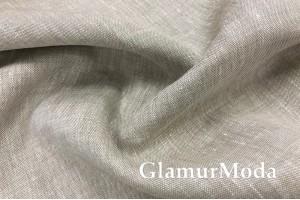 Лен постельный бежево-серый цвет, 220см, 11С56 (133)