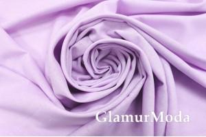 Лен с вискозой нежно-фиолетового цвета