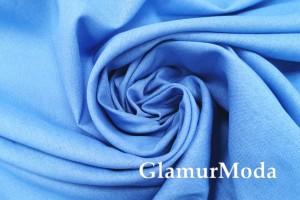Лен с вискозой голубого цвета