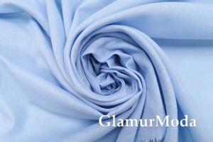 Лен с вискозой нежно-голубого цвета
