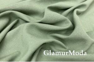 Лен с вискозой серо-зеленого цвета PV(5470)