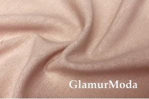 Лен с вискозой нежно-розового цвета №46