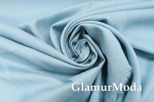 Лен с вискозой цвета голубой топаз
