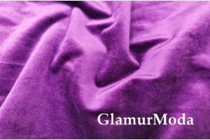 Мебельный бархат фиолетового цвета