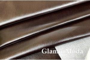 Искусственная мебельная кожа бронзово-коричневого цвета A-51
