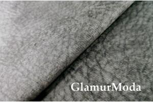 Микровелюр меланж на флисе для мебели серого цвета YQq4-3