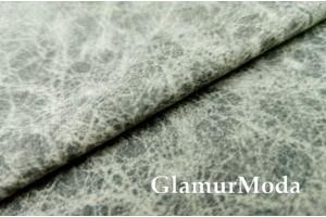 Микровелюр меланж на флисе для мебели светло-серого цвета YQq2-21