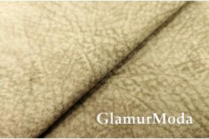 Микровелюр меланж на флисе для мебели бежевого цвета YQq4-2